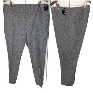 New York and company Women's Pants Size 18 Gray